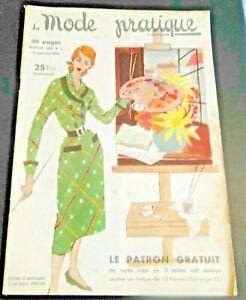 Magazine La MODE PRATIQUE  15 janvier 1951 n°2