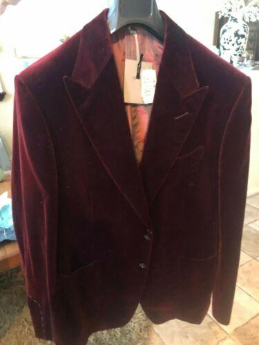 TOM FORD Men's Dinner Velvet Jacket Red/Marron 56R