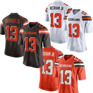 brand new 77ed4 9c57e Details about New Men's Cleveland Browns 13# Odell Beckham Jr Jersey  Orange/Brown/White M-3XL