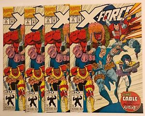 X-Force #8, 9.6, Lot of 4 comics, all NM+, 1st Appearance of DOMINO!