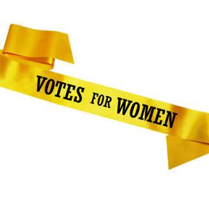 Yellow-Votes-For-Women-Sash-Emmeline-Pankhurst-Fancy-Dress-Costume-Suffragette