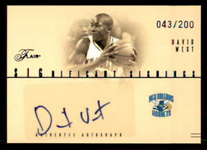 2004-05-Flair-Significant-Signings-DW-David-West-Auto-200-ref-20952