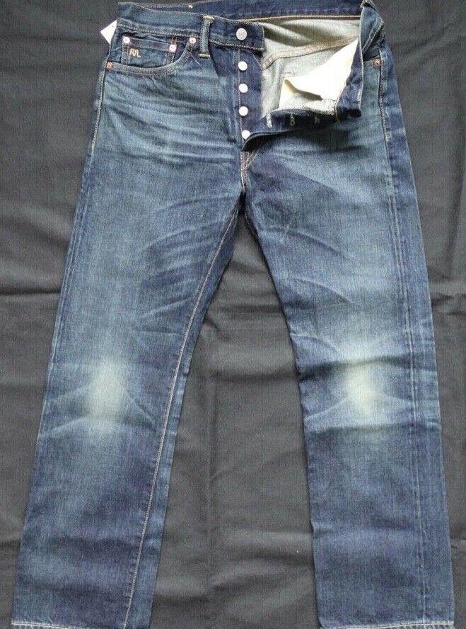 Ralph Lauren RRL DOUBLE RL STRAIGHT LEG JEANS W31 L30 JAPAN WOVEN