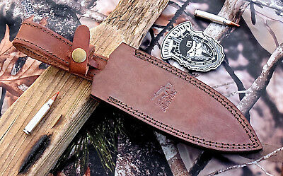 CFK iPak USA Handmade Brown Leather VERTICAL 6.5 INCH Dagger Fixed Blade-Sheath