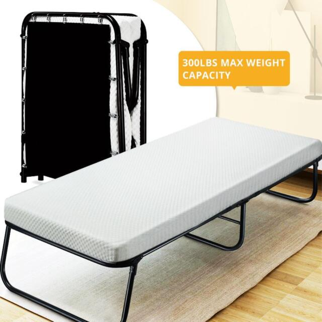 Quictent Folding Guest Bed With Mattress Storage Bag Portable Bed Cot Daybed