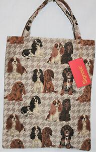 Cavalier-King-Charles-Spaniel-Gobelin-Hunde-Einkaufs-Beutel-Einkaufstasche