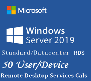 Windows-Server-2019-Standard-Datacenter-RDS-50-User-50-Device-CAL