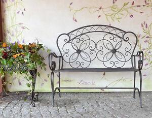gartenbank antik metallbank sitzbank metall eisenbank vintage parkbank landhaus ebay. Black Bedroom Furniture Sets. Home Design Ideas