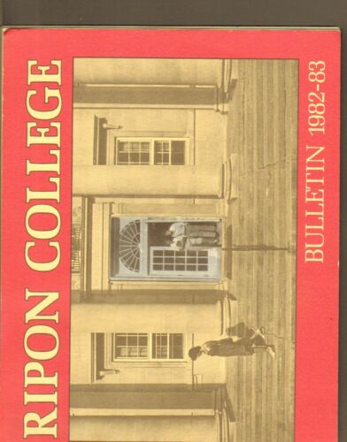 #MISC2195 1982 RIPON COLLEGE WISCONSIN BULLETIN