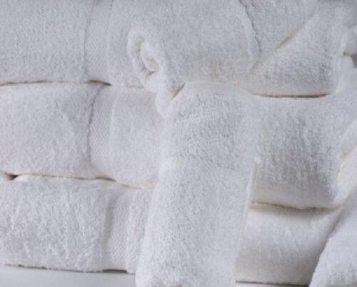 50 new white 13x13 premium washcloths gym salon tanning hotel yoga resort style