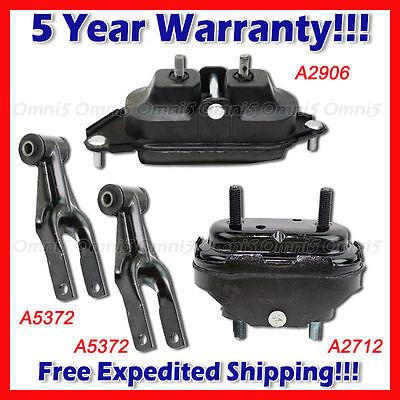 For 06-11 Chevrolet Impala// Monte Carlo 3.5L 3.9L 5.3L Motor Mount Set 4pc M804