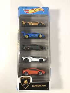 Hot Wheels Lamborghini 5 Pack 1:64 Scale Model Collectible Exotic Model Car Toys