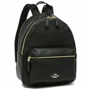 new arrival best quality for new selection Coach F38263 Mini Charlie Backpack in Pebble Leather Black