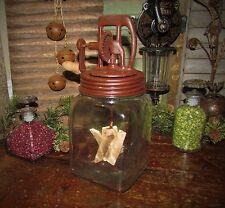 Prim Antique Style Dazey Butter Churn Glass Jar Feb 14 '22 Reproduction AS IS