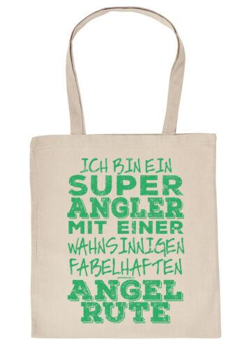 Geschenk Angler Geschenktasche Anglzubehör Angeltasche Angler Sprüche Tasche