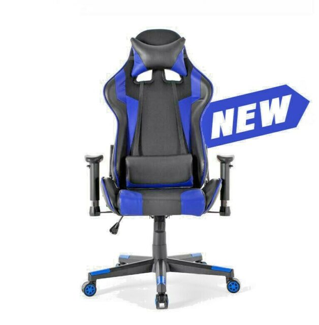 Racing Style PU Leather Ergonomic Swivel Gaming Chair Office Seat