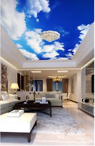 3D blueer Himmel 794 Fototapeten Wandbild Fototapete BildTapete Familie DE Kyra