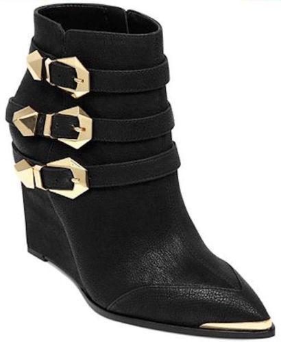 Vince Camuto-Moda botas al Tobillo Kannon - - Suede -- 9.5 - Negro -- Precio de venta sugerido por el fabricante  159
