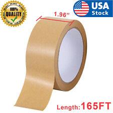165ftgummed Kraft Paper Tape Bundled Adhesive Sealed Carton Sticker Masking Tape