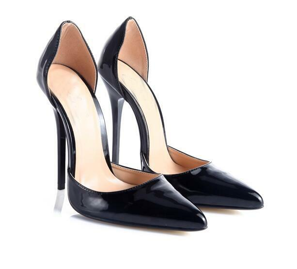 femmes Pointed Toe Patent Leather Stilettos High Heel Dress chaussures Pumps Club