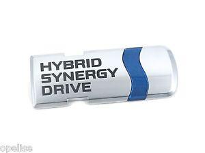 TOYOTA-d-039-origine-HYBRID-SYNERGIE-MOTEUR-BADGE-Coffre-Embleme-Prius-2012-2015