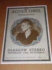 AGNES OBEL - rare UK live music show tour concert / gig poster - nov 2011