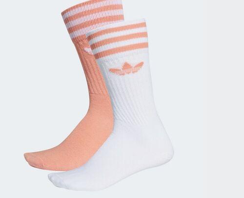 Da Uomo Adidas Originals calzini 3 strisce Crew 2 PAIA rosa Donna UK 8.5-11 NUOVO