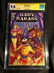 BABY-BADASS-1-Signed-By-David-Schrader-MR-HYBRAU-COMICS-CGC-SS-9-8-NM-MT