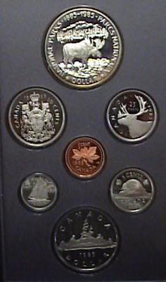 w//Box /& COA 100 Year National Parks Double Dollar 1985 Canada Proof Set