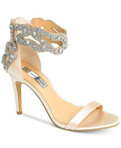 INC International Concepts Womens RAIZEL Fabric Open Toe Formal Ankle Strap S...