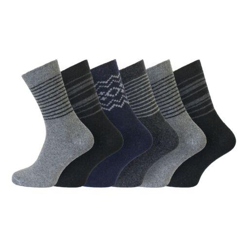 39-45 EUR-rayures Men/'s Doux Laine Isolé Hiver Randonnée Boot Chaussettes 6-11 uk