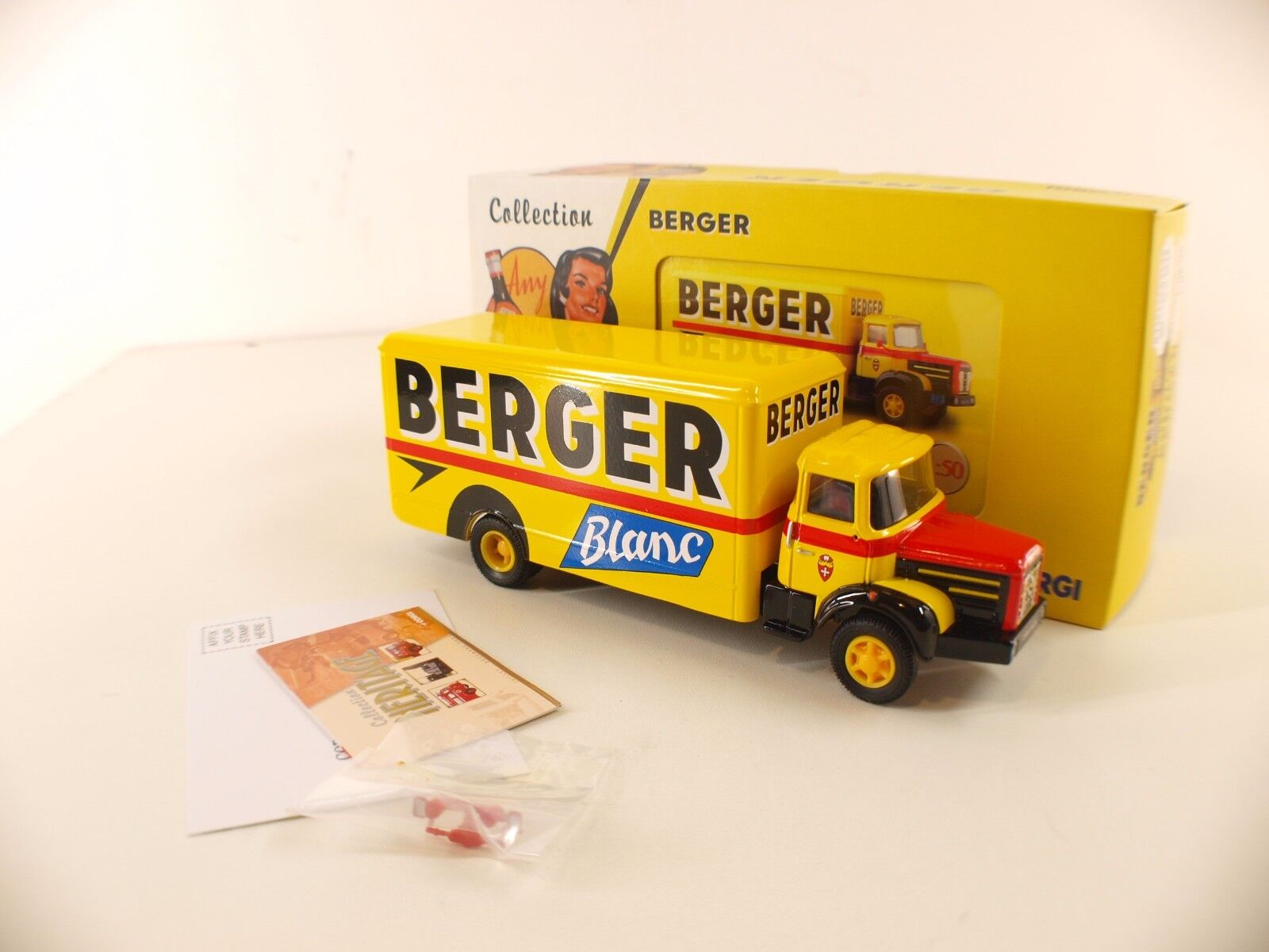 Corgi 70204 BERLIET GLR8 Transporter Berger 1 50 NEW BOX BOXED LIMITED