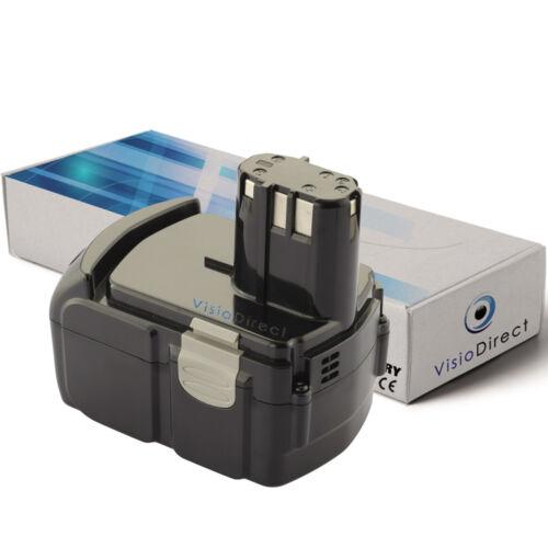 Société Française Batterie 14.4V 2000mAh pour Hitachi DS14DVF3