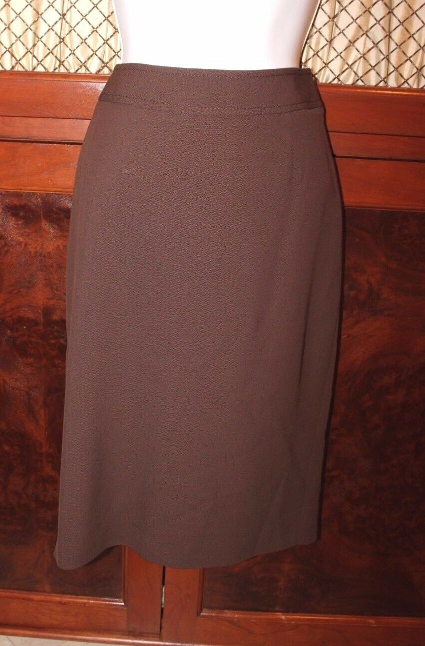 VALENTINO Wool  Blend Brown SKIRT size 6 US