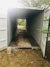 140 Ft Shipping Metal Containers Gray Colored Doors On Both Ends In Good Shape