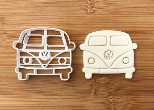VW Bus Vintage Plage Cookie Cutter Fondant Cupcake Gâteau Small Medium Large