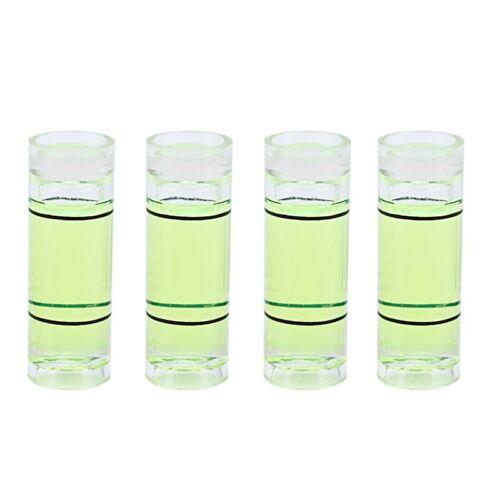 4 PCs Acrylic Tube Bubble Spirit Level Vial Measuring Instrument D 8mm L 22m a1q