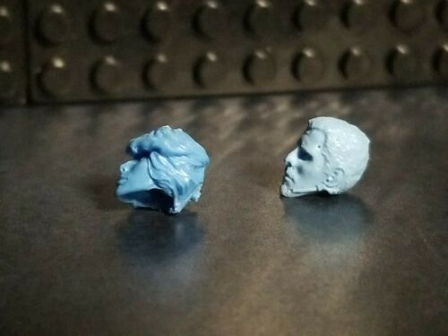 Custom Cast male and female Heads compatible with Mega Construx set of 2