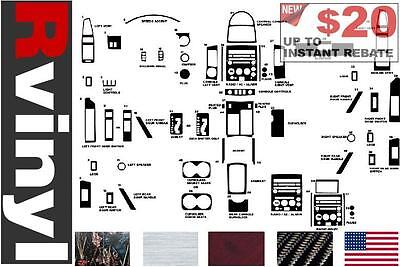 Rdash Dash Kit Decal Trim for Nissan Armada Titan 2004-2007 Black Carbon Fiber 3D