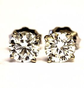 24b11e5ae59 EGL GIA certified 14k white gold .94ct F-I SI1-2 round diamond ...