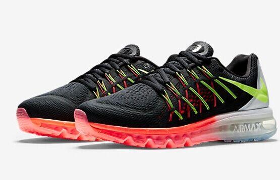 Nike Air Max 2015 Running Shoes Black Volt Hot Lava White SZ