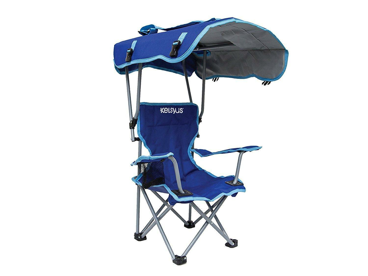 Canopy Chair  Kids Beach Camping Shade Cup Holder Sports Sun Folding Kelsyus New  gorgeous