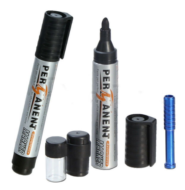 PERMANENT MARKER PEN HIDING STASH DIVERSION SAFE PILL BOX HIDE SNUFF SET GLASS