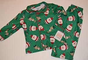 3879932f3 2 Piece Santa Clause   Reindeer Christmas Pajamas Sleepwear Set 12 ...