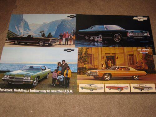 Belair 1971-72-73 Chevrolet Dealer Sales-Showroom Brochure Lot Impala Caprice