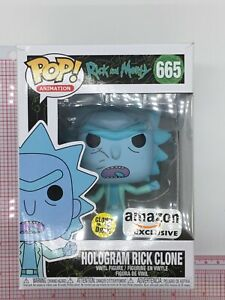 Funko Pop Animation Rick and Morty Hologram Rick Clone #665 BOX WEAR M02