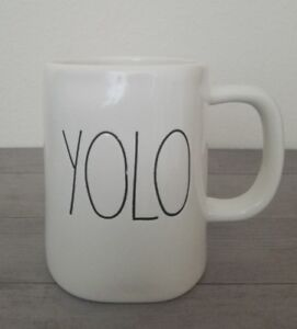 NEW-RAE-DUNN-By-Magenta-YOLO-Coffee-Tea-Mug-Farmhouse-Zen-Meditation-Home-Decor