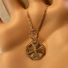 9 ct gold second hand maltese cross pendant