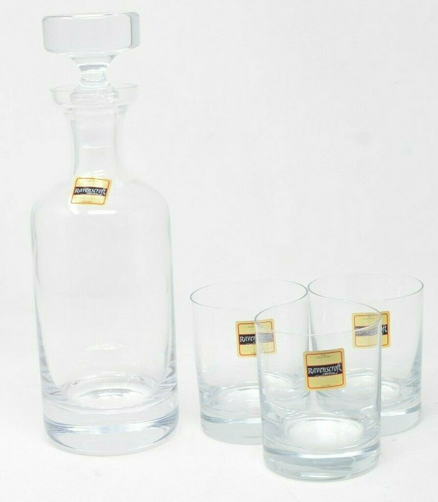 Clear Ravenscroft Crystal W750 Taylor Double Old Fashioned Decanter Set 34 oz