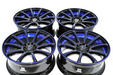 18 Drift blue Rims Wheels Accord Camry Avenger Mustang CX3 CX5 CX7 5x100 5x114.3